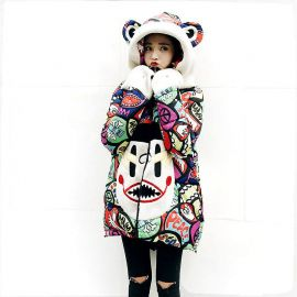 Colorful women's winter jacket