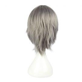 Reborn - Hayato Gokudera keskipitkä harmaa peruukki