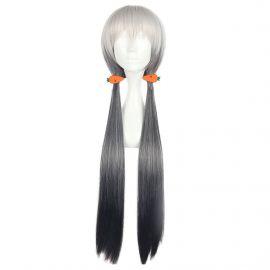 Cosplay pitkä hopeanharmaa peruukki