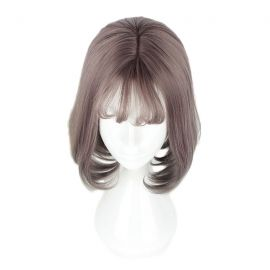 Cosplay short reddish-grey wig