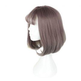 Cosplay keskipitkä punertavan harmaa peruukki