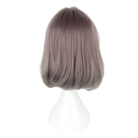 Cosplay lång grå peruk