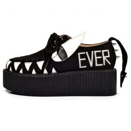 Black creepers shoes with rivets