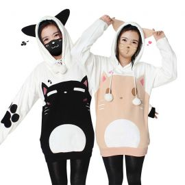 Cute cat hoodie with ears