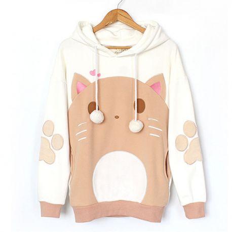Cute cat hoodie with ears