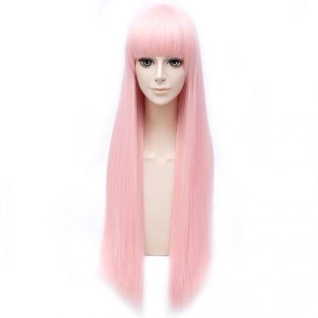 Darling in the FranXX - Zero Two pitkä vaaleanpunainen peruukki otsatukalla