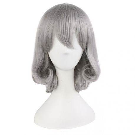 Touken Tanbu - Honebami Toushirou lyhyt hopeinen peruukki