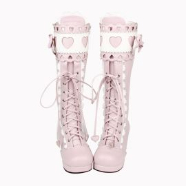 Cosplay Lolita boots with bow