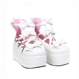 Cosplay lolita kengät rusetilla