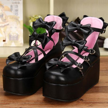 Cosplay Lolita thick bottom shoes