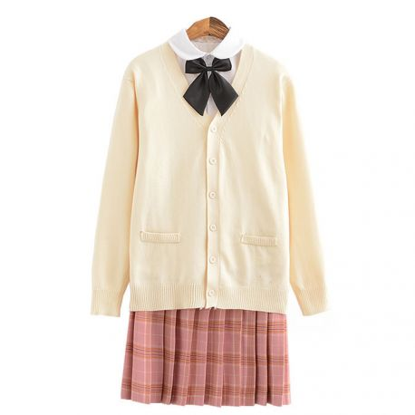 Japanese beige school uniform