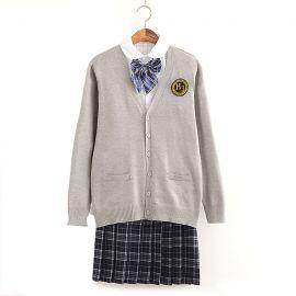 Japanese grey school uniform