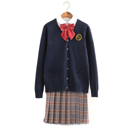 Japanese dark blue school uniform