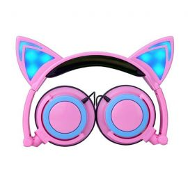 Anime-style cat ear headphones