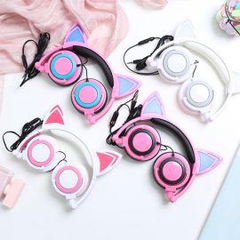 Anime-style cat ear headphones