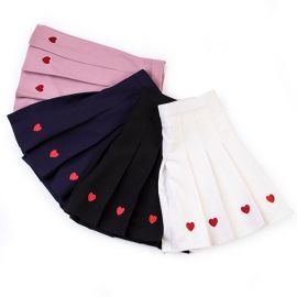 Cute heart pattern anime style skirt