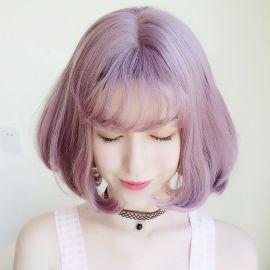 Vocaloid - Miku Hatsune Snow 2018 pitkä vaaleanvioletti peruukki poninhännillä