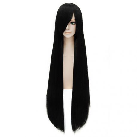 Cosplay long black wig