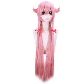 Mirai Nikki - Future Diary - Yuno Gasai pitkä vaaleanpunainen peruukki