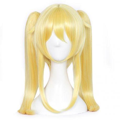 Kakegurui - Mary Saotome pitkä vaalea peruukki poninhännillä