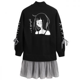 Anime style blouse with skirt