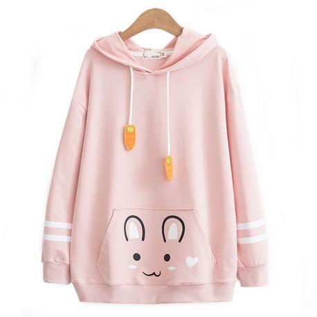 Cute rabbit hoodie with ears