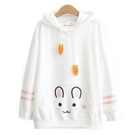 Cute rabbit hoodie with ears