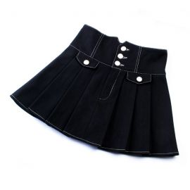 High-waisted black skirt