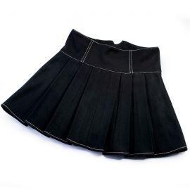 High-waisted black skirt