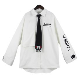 Kumamon collar shirt with tie