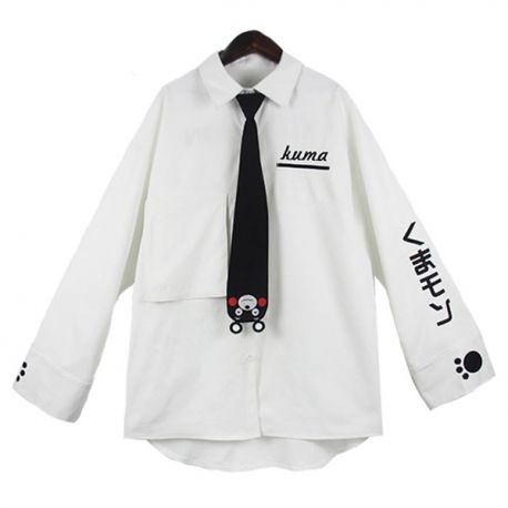 Kumamon collar shirt