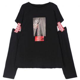 Black punk style blouse