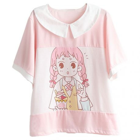 Cute anime-style T-shirt