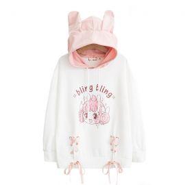 Anime style hoodie with ears