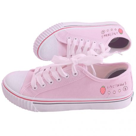 Pink canvas sneakers