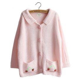 Pink cherry cardigan