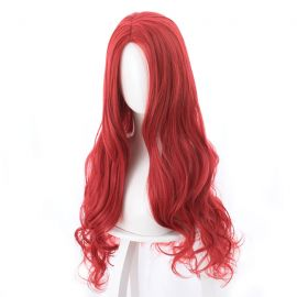 Cosplay long red curly wig