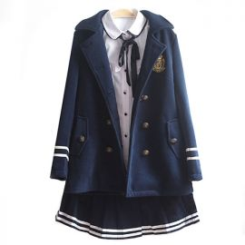 Long school uniform coat