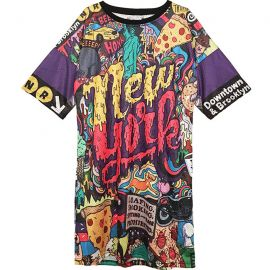 Long colorful Harajuku fashion tunic