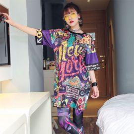 Long colorful Harajuku fashion tunic