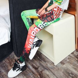 Colorful elastic leggings