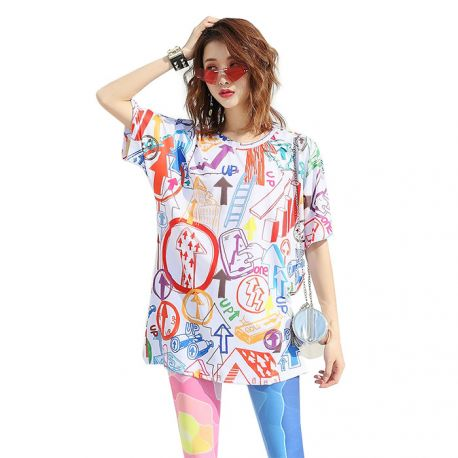Women's colorful T-shirt