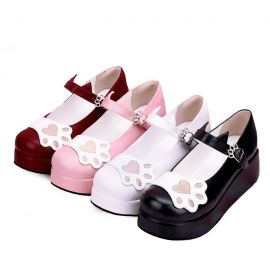 Cosplay Lolita cat pattern shoes