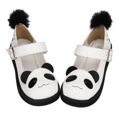 Cosplay Lolita panda shoes