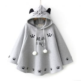 Cat pattern poncho