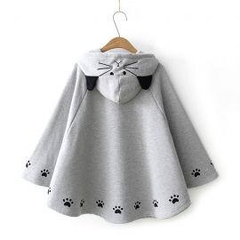 Cat pattern poncho
