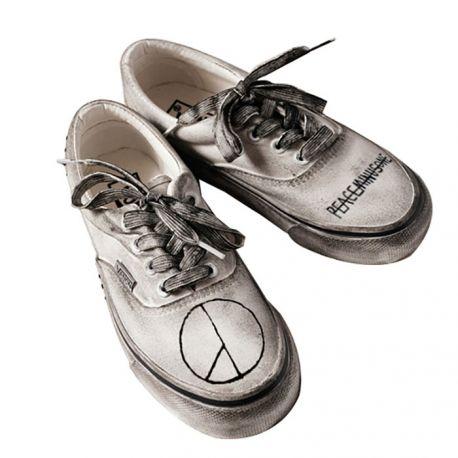 Black & white punk style sneakers