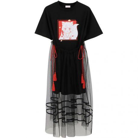 Anime style shirt with detachable skirt