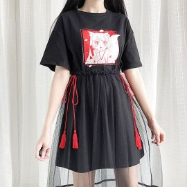 Anime style shirt with detachable skirt