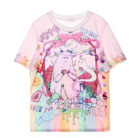 Pink colorful sweet T-shirt